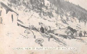 Mace Idaho Snow Slide Disaster Ruins Antique Postcard J76822