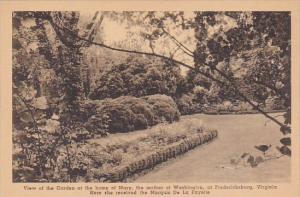 Virginia Fredericksburg  View Of The Garden At The Home Of Mary The Mother Of...