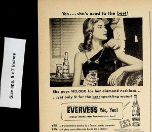 1947 Evervess Sparkling Water Vintage Print Ad 4675