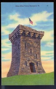 Ethan Allen Tower Burlington VT unused c1930's