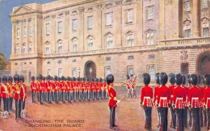 Changing the Guard, Buckingham Palace, London, England, Early Postcard, Unused