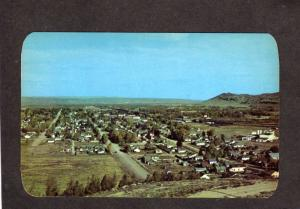 WY View Evanston Wyoming City Bear River Valley Lincoln Highway Rt 30 Postcard