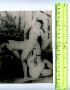 207936 RUSSIA sex lesbians old photo card