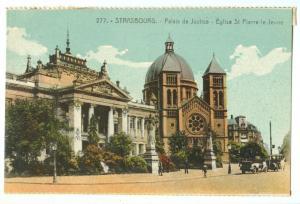 Strasbourg, Palais de Justice, Eglise St Pierre-le-Jeune CPA
