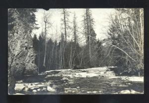 RPPC MISSOULA MONTANA RATTLESNAKE CREEK REAL PHOTO POSTCARD BANGS MONT.