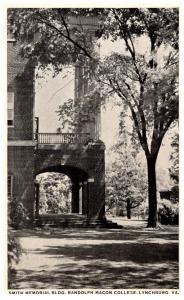 Virginia Lynchburg  , Smith Memorial building, Randolph Macon College