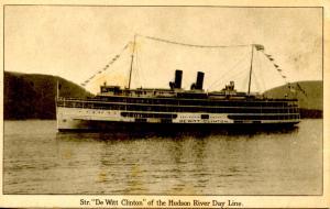 NY - Catskills. Hudson River Day Line, Steamer DeWitt Clinton