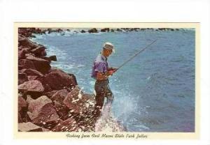 Fishing, Fort Macon Park,Morehead City, North carolina, 40-60s