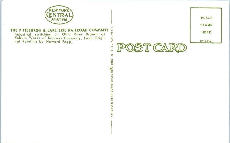 PITTSBURGH, PA Pennsylvania  RAILROAD TRESTLE at KOPPERS Co.   c1950s   Postcard