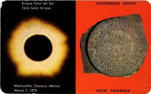 CPM AK Aztec calendar, Total solar Eclipse MEXICO (599467)