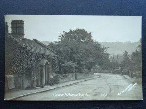 Derbyshire Bakewell Matlock ROWSLEY Village Entrance c1914 RP Postcard R. Sneath