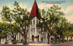 Florida St Petersburg First Congregational Church Curteich