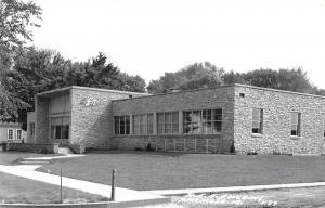 Anamosa Iowa~Rural Electric Association~REA Power Building~1950s Real Photo~RPPC