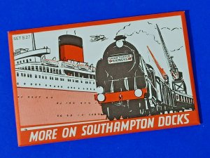 RARE 6 Used Dalkeith Postcards in Envelope More on Southampton Docks MI7