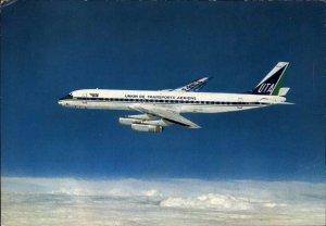 Union de Transport Aeriens UTA Airplane Super DC-8 Postcard