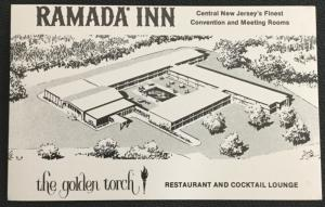 Postcard Unused Ramada Inn Golden Torch East Brunswick NJ LB