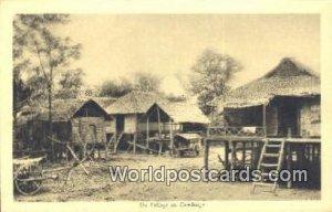 Un Village Cambodge Cambodia, Cambodge Unused