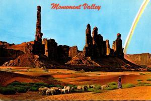 Arizona Monument Valley Tending Navajo Sheep