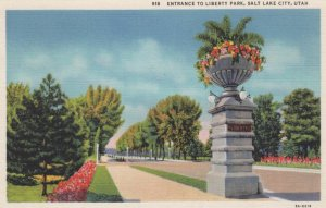 SALT LAKE CITY, Utah, 1930-40s; Entrance to Liberty Park
