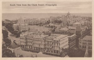 Bombay South View From The Clock Tower Aerial Old Postcard