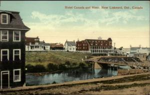 New Liskeard Ontario Hotel Canada & River c1910 Postcard