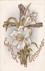 Easter Greeting, White Lily on Cross, PU-1910