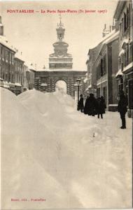 CPA PONTARLIER - La Porte St-Pierre (3 janvier 1907) (299988)