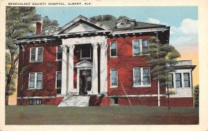 Albany Alabama~Benevolent Society Hospital~1920s Postcard