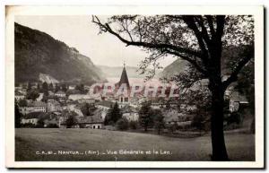 Old Postcard General view and Nantua Lake