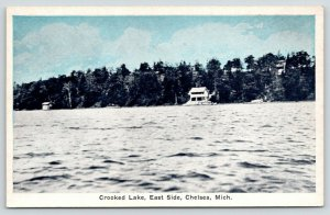 Chelsea Michigan~Crooked Lake~Two Story Cabin on Lakefront~East Side~1920s