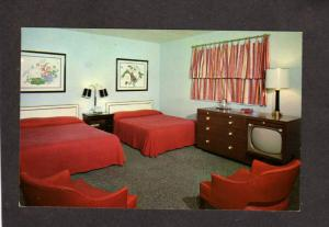 PA Jacktown Interior  Motel Lincoln Highway Hwy Irwin Pennsylvania Postcard Penn
