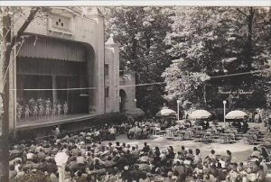 Michigan Benton Harbor House Of David Park Theatre Real Photo RPPC