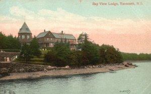 Vintage Postcard 1920 Bay View Lodge Yarmouth N.S. Nova Scotia Canada CAN