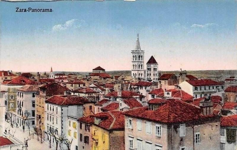 Carte Croatie Zadar.Croatia Zadar Zara Panorama Aerial General View Hippostcard