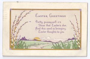Vintage Easter Poem Postcard A/S Evelyn Von Hartman 1920