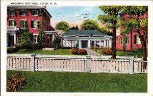 View of Woodman Institute, Dover NH c1942 Vintage Postcard Y14