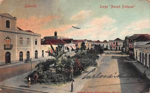 Luanda, Angola, Largo Manoel Palhares, Early Postcard, Used in 1916