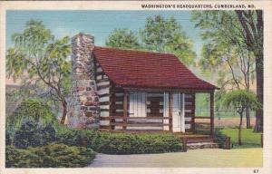 Washingtons Headquarters Cumberland Maryland 1942