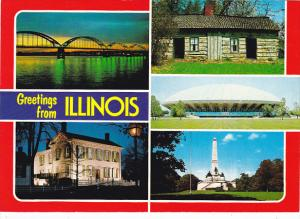 Greetings From Illinois Land Of Lincoln Multi View