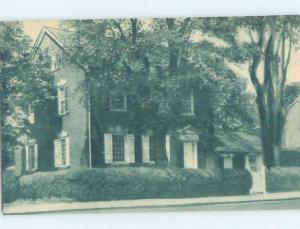 Unused 1940's HISTORIC HOME New Castle Delaware DE W3654