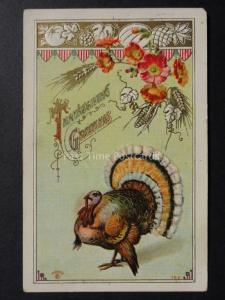 Poppies: American Thanksgiving Greetings c1911 by Sander No.982 Donate to R.B.L.