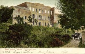 leeward islands, NEVIS W.I., Bath House (1906) A.M. Losada