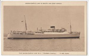 Shipping; Union Castle Line SS Durban Castle PPC, Unposted Circa 1950s