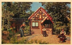 Tampa Florida~Busch Gardens~Dwarf Village~Hansel And Gretal~1967 Postcard