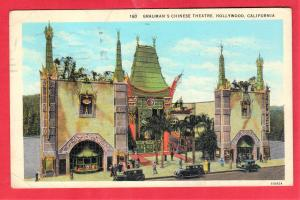 GRAUMAN'S CHINESE THEATRE, HOLLYWOOD  1930  3.5 X 5.5 SEE SCAN