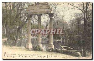 Old Postcard Paris Parc Monceau The Ruins
