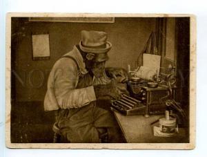 250295 USSR monkey w/ typewriter 1930 year postcard