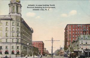 New Jersey Atlantic City Atlantic Avenue Looking North Bartlett Building In F...