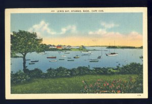 Hyannis, Massachusetts/MA Postcard, Lewis Bay, Cape Cod, 1942!