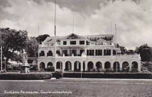 RP: Suriname-Paramaribo, Gouvernementhuis, 40-60s
